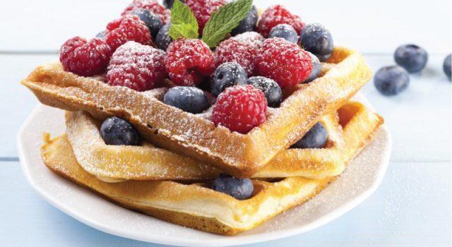 waffles veganos